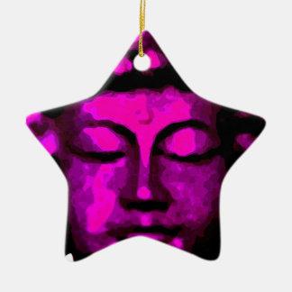 Buddha Kopf Keramik Ornament