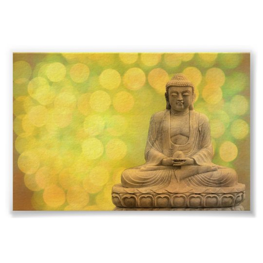 buddha light (yellow) poster