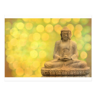 buddha light (yellow) postkarte