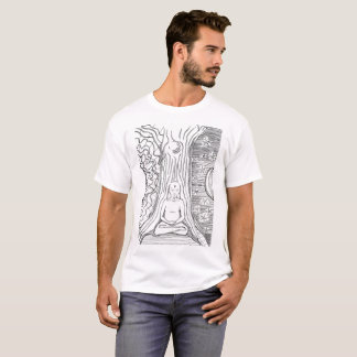 Buddha Meditation im Baum T-Shirt
