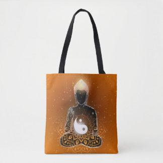 Buddha-Meditation Ying Yang Entwurf Tasche