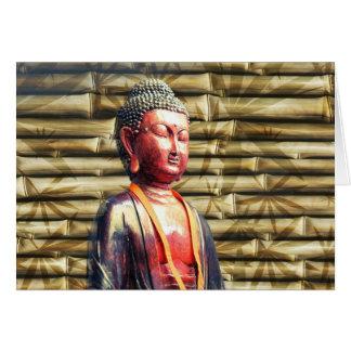 Buddha mit Bambus Karte