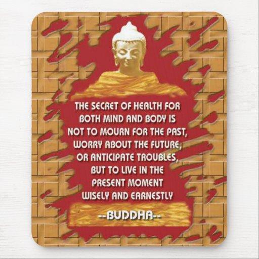 Buddha-Motivierungsmitteilungen mousepad