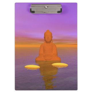 Buddha-Orange und Schrittgelb Klemmbrett
