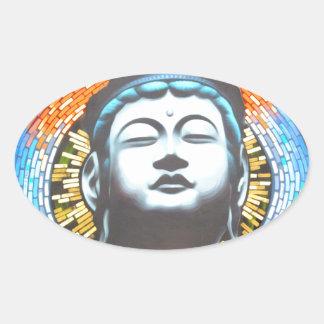 Buddha Ovaler Aufkleber