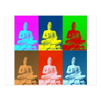 Buddha-Pop-Kunst-Art Postkarte