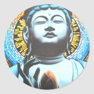 Buddha Runder Aufkleber