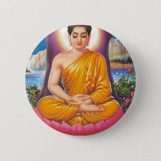Buddha Runder Button 5,1 Cm
