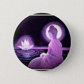 Buddha Runder Button 5,7 Cm
