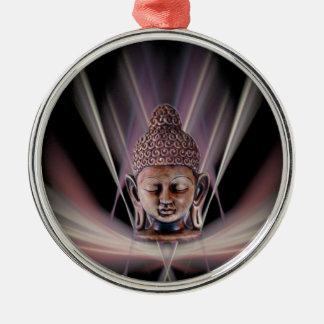 Buddha Rundes Silberfarbenes Ornament