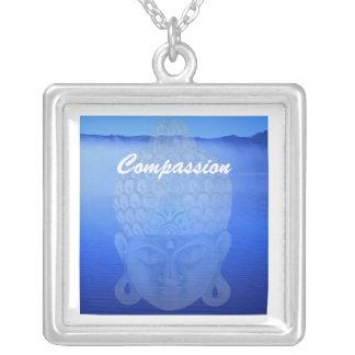 Buddha See, Mitleid Halskette Mit Quadratischem Anhänger