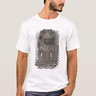 Buddha setzte in der Meditation auf dem Naga, T-Shirt