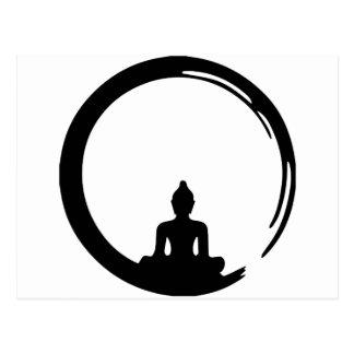Buddha silent postkarte