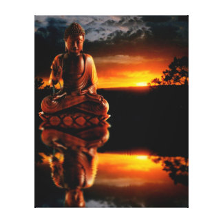 Buddha-Sonnenuntergang Leinwanddruck