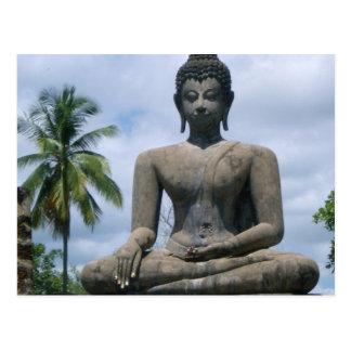 Buddha-Statue-Postkarte Postkarte