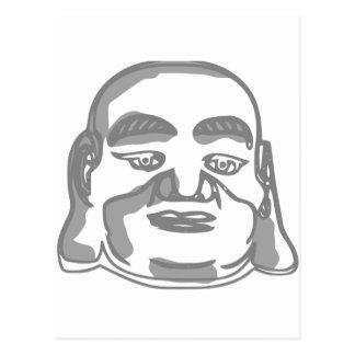 Buddha stellen gegenüber postkarte