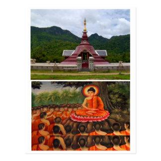 BUDDHA-TEMPEL POSTKARTE