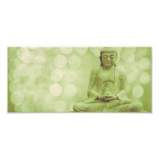 buddha the light (light green) fotodruck