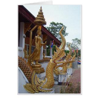 Buddha u. Naga Grußkarte
