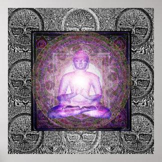 Buddha und Baum des Lebens Poster