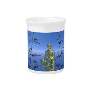 Buddha und Boot Krug