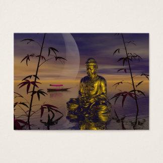 Buddha und Mond Visitenkarte
