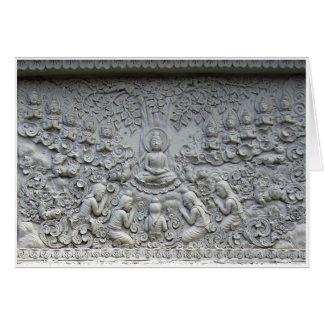 Buddha unter dem Bodhi Baum Grußkarte