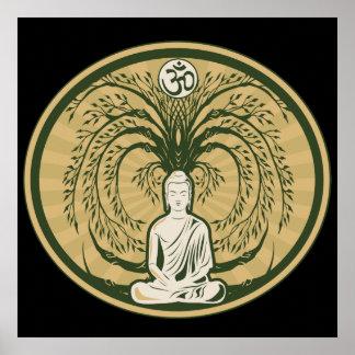 Buddha unter dem Bodhi Baum Poster
