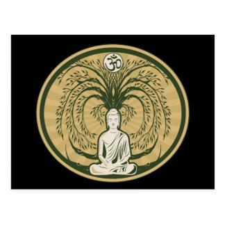 Buddha unter dem Bodhi Baum Postkarte