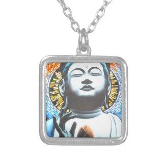 Buddha Versilberte Kette