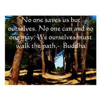 Buddha-Weg-Zitat Postkarte