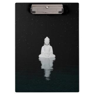 Buddha-Weiß Klemmbrett