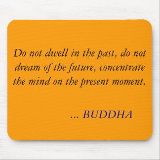 BUDDHA-ZITAT - bleiben Sie nicht in der Vergangenh Mauspads