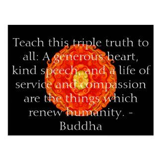Buddha-Zitat inspirieren motivierend Postkarte
