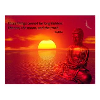 Buddha-Zitat-inspirierend Angelegenheiten Postkarte