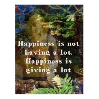 BUDDHA-Zitat über Glück Postkarte
