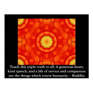 Buddha-ZITAT - unterrichten Sie diese dreifache Postkarte