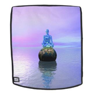 Buddhablau und -welt rucksack