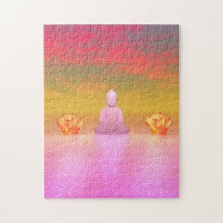 Buddharosa- und -wasserlilienorange puzzle