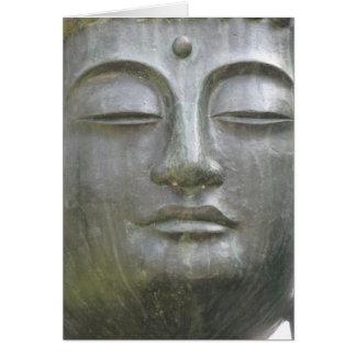 Buddhas Gesichts-Karte Karte