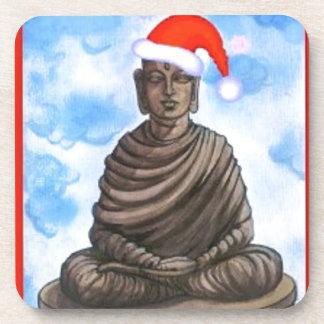 Buddhismus - Buddha - frohe Weihnacht-Hut Drink Untersetzer