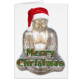 Buddhismus - Buddha - frohe Weihnacht-Hut Grußkarte