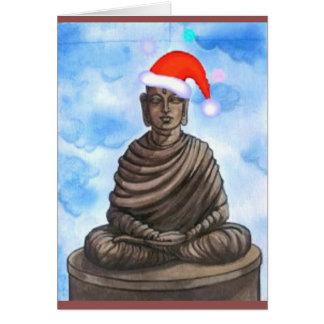 Buddhismus - Buddha - frohe Weihnacht-Hut Karte