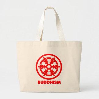 Buddhismus-Symbol Leinentaschen