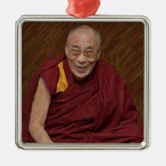 Buddhistische Buddhismus-Meditation Yog Dalai Silbernes Ornament