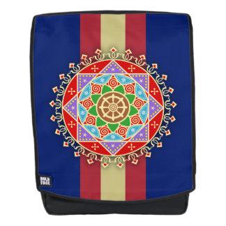 Buddhistische Dharma Rad-Mandala Rucksack