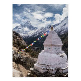 Buddhistische Schrein-u. Gebets-Flaggen, Postkarte