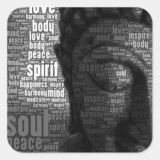 Buddhistische Wörter von Klugheit Stickers