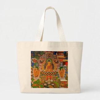 Buddhistischer Buddhismus Buddhas, der Boho Böhmen Jumbo Stoffbeutel
