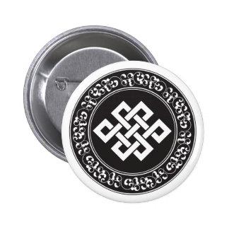 Buddhistischer endloser Knoten Anstecknadelbuttons